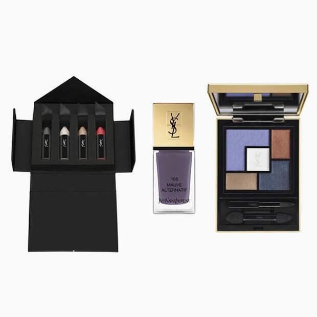 Мелки для макияжа глаз Couture Chalks, лак для ногтей La Laque Couture и палетка теней Couture Palette, Yves Saint Laurent