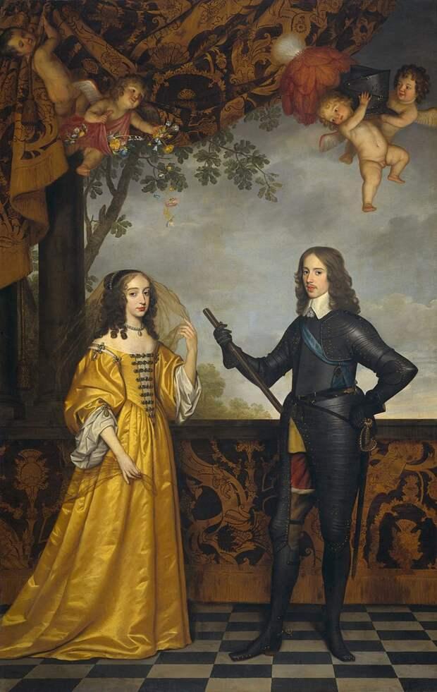 Г. ван Хонтхорст.  Мария и Вильгельм. 1647 год. Рейксмюсеум, Амстердам