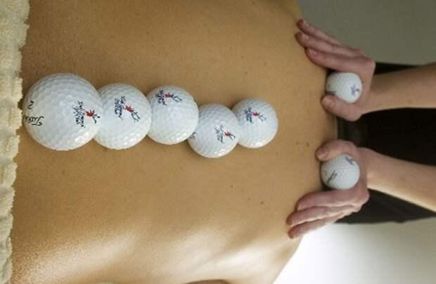 Массаж шариками для гольфа