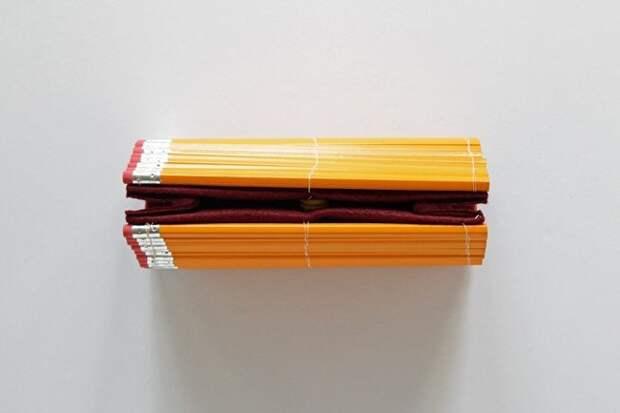Клатч из карандашей (Diy)