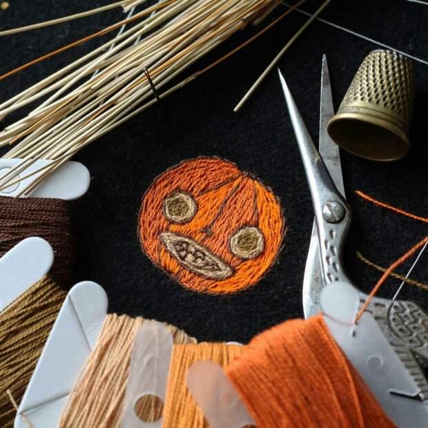 Хеллоуинские вышивки