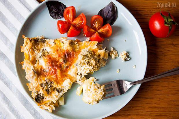 Быстрая запеканка из овощей и куриных грудок