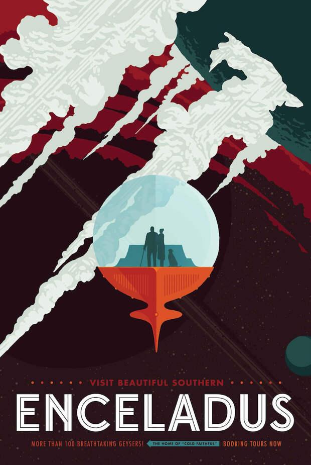 Ретро плакаты космических путешествия от NASA