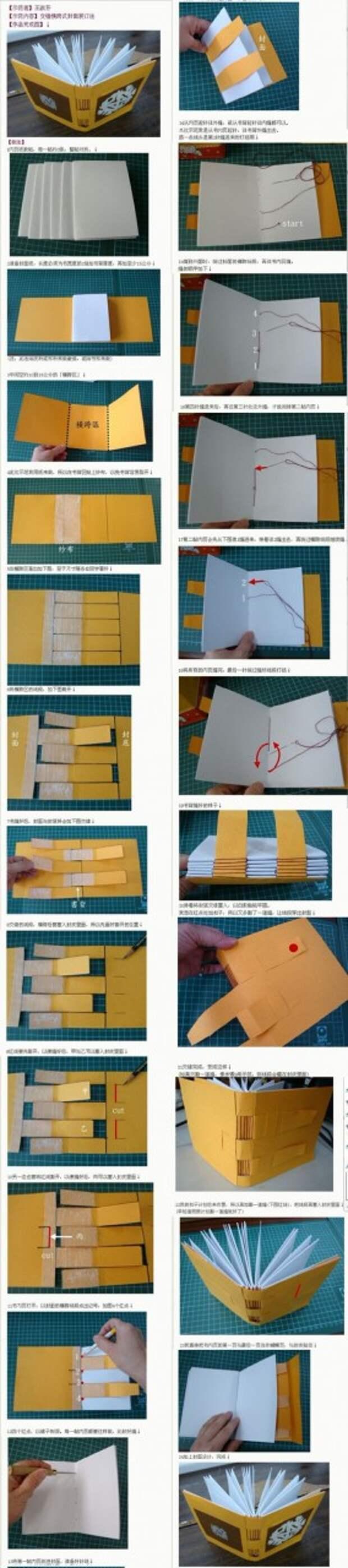 Как сшивать бумажные блокноты