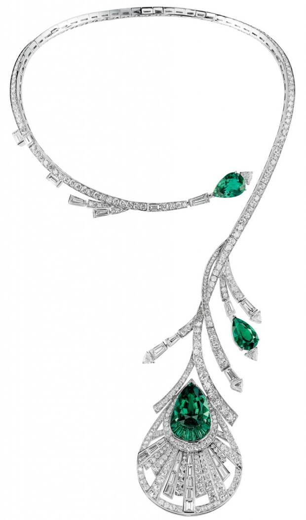 Boucheron plume de paon necklace