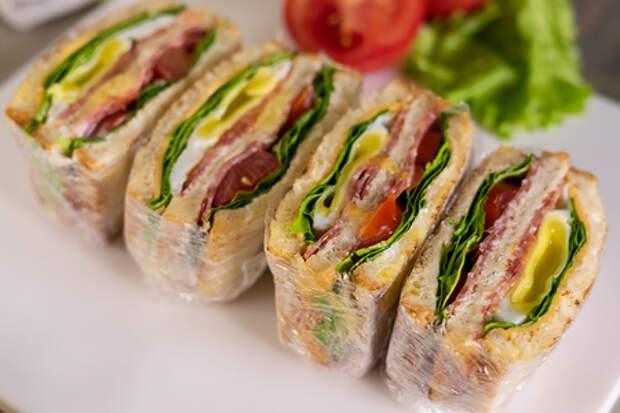 Фото к рецепту: Сэндвич клаб