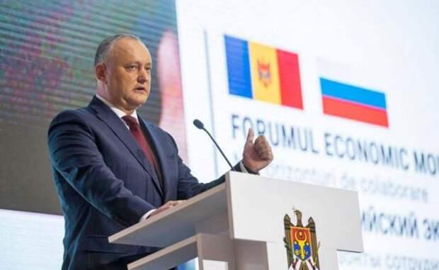 Додон: Молдавия наращивает темп экономического сотрудничества сРоссией