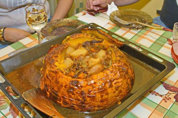 Баранина в тыкве (рецепт с фото)