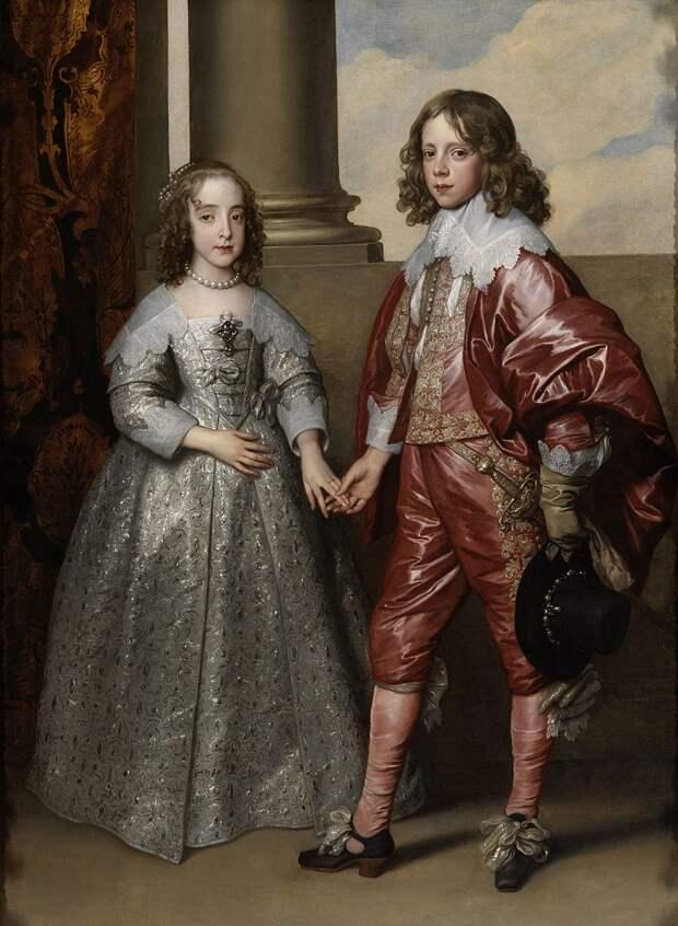 А. ван Дайк , Свадебнй портрет Вильгельма и Мари. 1641 г. Рейксмюсеум, Амстердам