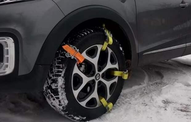 Цепи, браслеты и ремни на колеса: свобода на зимней дороге