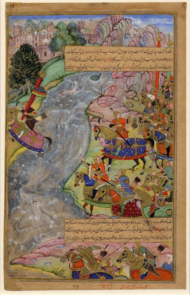Джелал сматывается от монголов, даже убегая он внушил уважение к себе.