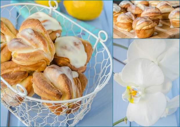 Булочки с лимоном и глазурью