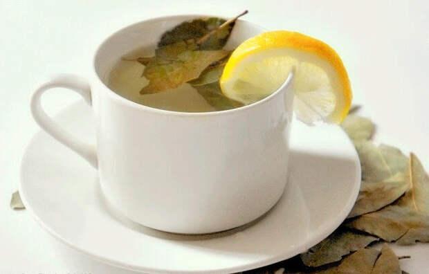 Лавровый чай с лимоном