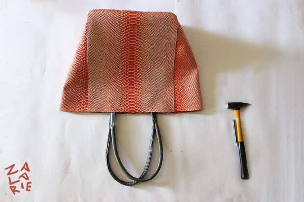 Сумка-шоппер с двойной  застежкой (Diy)
