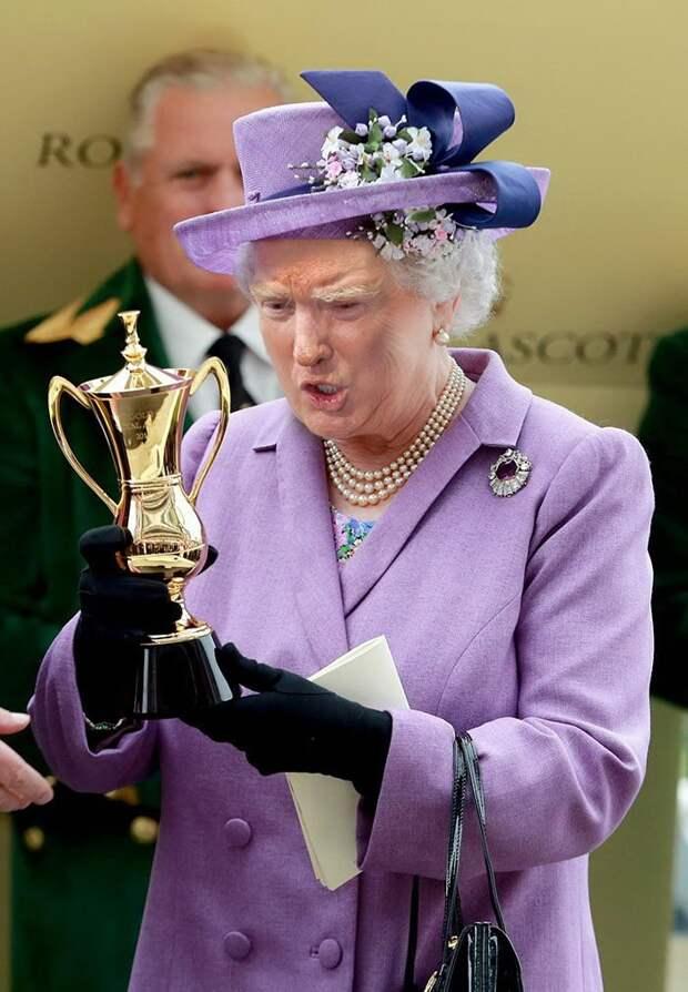 Трамп и королева английская...