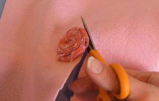 Цветы из ткани своими руками — Простая роза