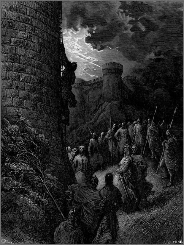 Боэмунд взбирается на стены Антиохии. Густав Доре.
