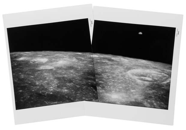 1969. май. Панорама Земли поднимающейся над лунным горизонтом
