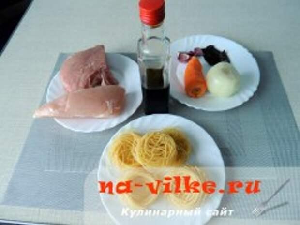Рамен со свининой и овощами