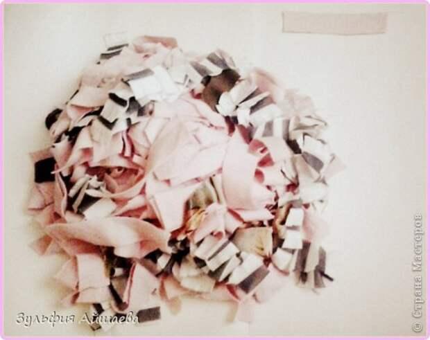 Интерьер Мастер-класс Ткачество ручное Коврик из футболок Сетка Ткань фото 3