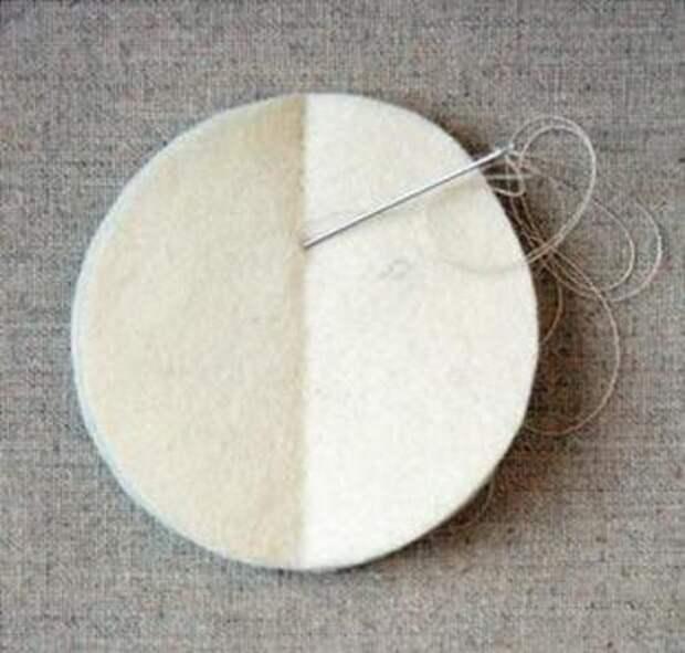 Объемный новогодний шарик из фетра. Как сделать новогодние игрушки из фетра своими руками