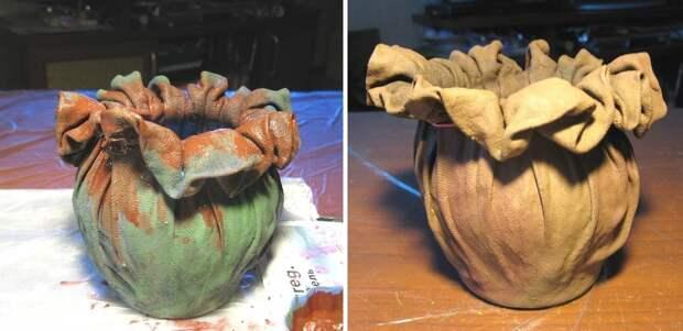Добавьте к куску старой ткани немного клея, чтобы создать невероятную вещь