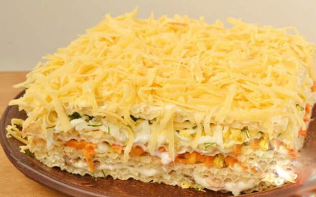 Селедочный торт затмит «Оливье» и «Шубу». Шедевр вкуса!