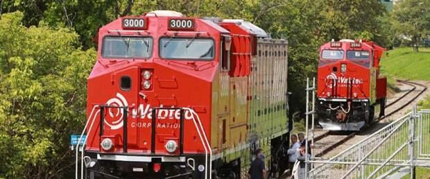 Wabtec представила свой первый грузовой поезд на аккумуляторах