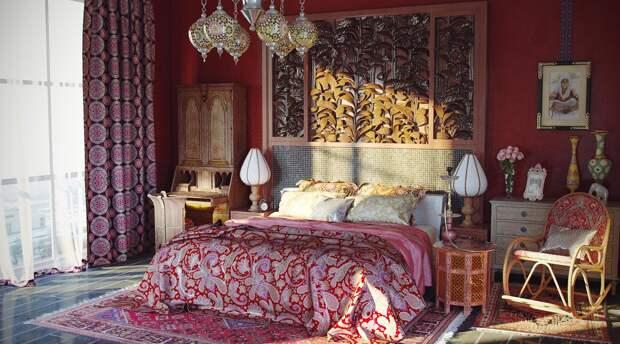Восточный стиль в домашнем интерьере (105 фото)