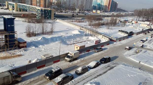 Очевидцы поделились новостями о строительстве станции «Физтех»