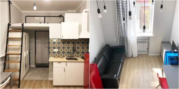 Девушка сделала из 18-метровой комнаты двухуровневую квартиру