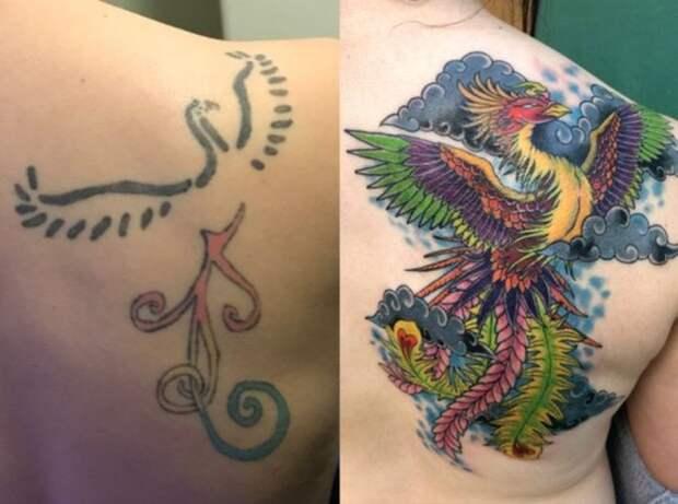 Вторая жизнь: 30 крутых татуировок-перекрытий