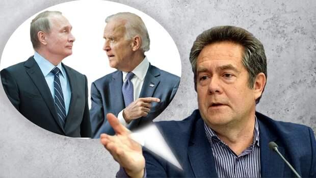 Разница в делах и словах В. Путина и Д. Байдена – по мнению Н. Платошкина российский президент проигрывает перед американским