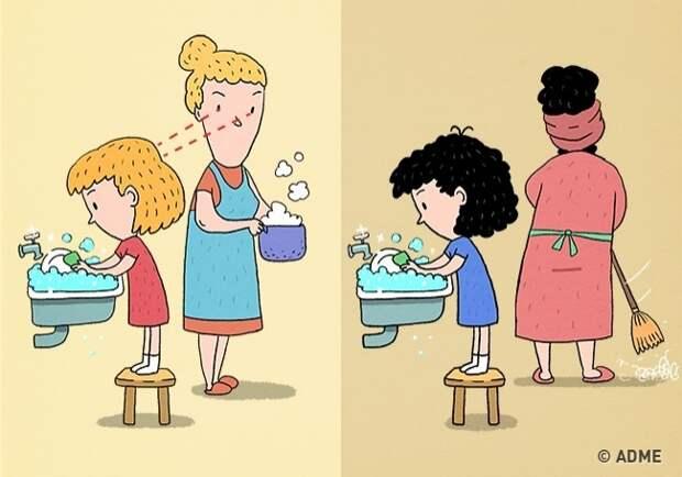 10 правил воспитания, из-за которых дети становятся гениями.