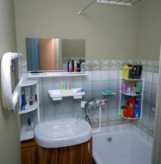Детали в ванной комнате.