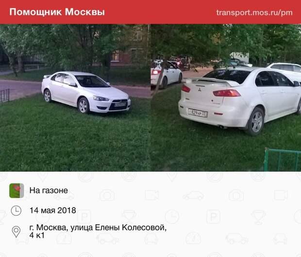 Газон Авто, Газон, Фотография, Помощник Москвы, Неправильная парковка