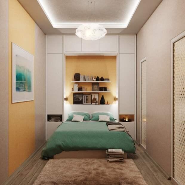 Раскладная модульная стенка идеально подходит для малогабаритного помещения.