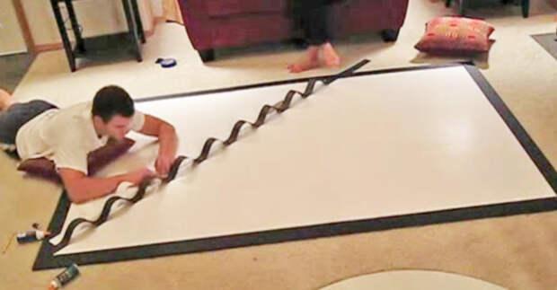 Когда жена попросила сделать что-то с этой стеной, то даже не догадывалась, ЧТО придумает ее муж…