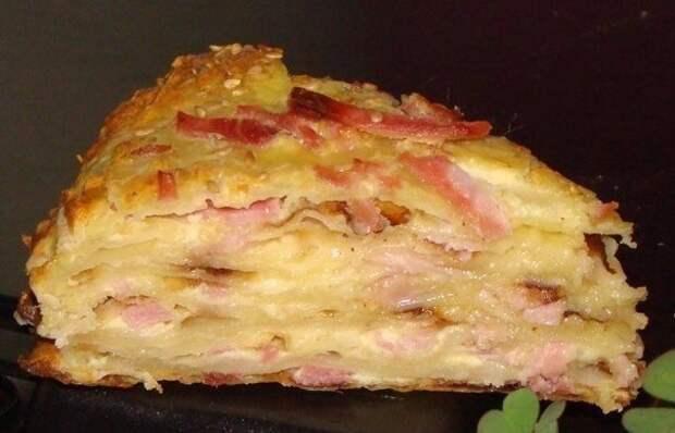 Сырный пирог с ветчиной: отличный способ разнообразить вечернее меню