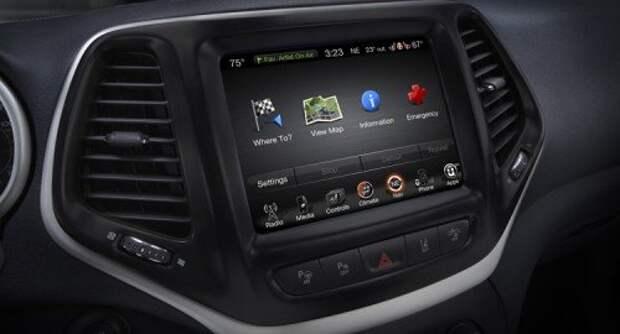 Экран системы Uconnect на 2014 Jeep Cherokee
