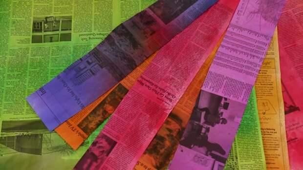 Эффектная идея использования обычной газеты. Вижу такой способ в первый раз