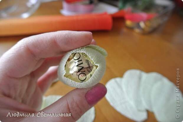 Мастер-класс Свит-дизайн Моделирование конструирование Роза для Колибри Бумага гофрированная фото 3