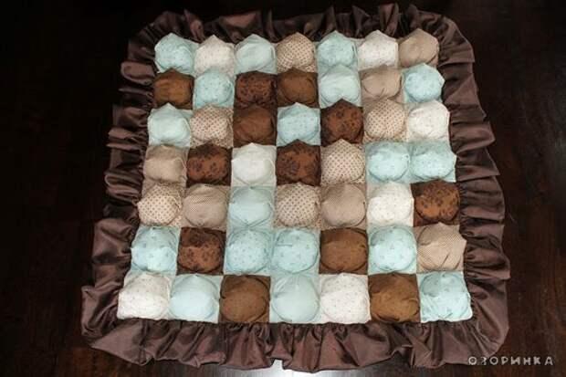 красивое одеяло из лоскутков
