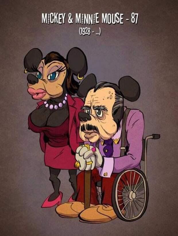Если бы персонажи мультфильмов выглядели на свой возраст.
