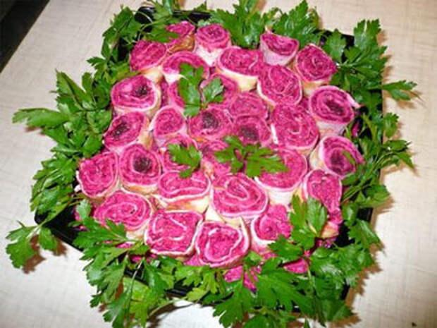 Салат букет невесты с селедкой