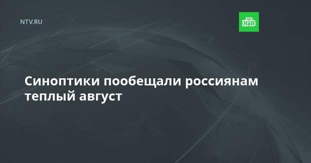 Синоптики пообещали россиянам теплый август