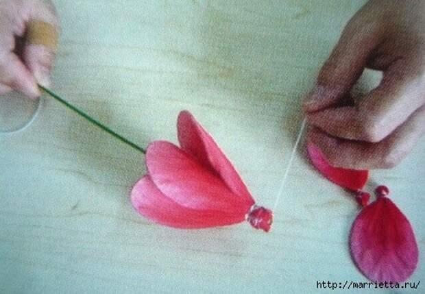 Розы из капрона. Красивые идеи и мастер-класс (22) (492x341, 137Kb)