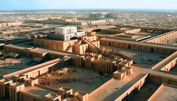 Современная реконструкция внешнего вида храмового комплекса Урука