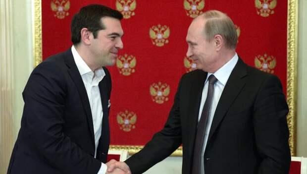 Президент России Владимир Путин и премьер-министр Греции Алексис Ципрас, архивное фото