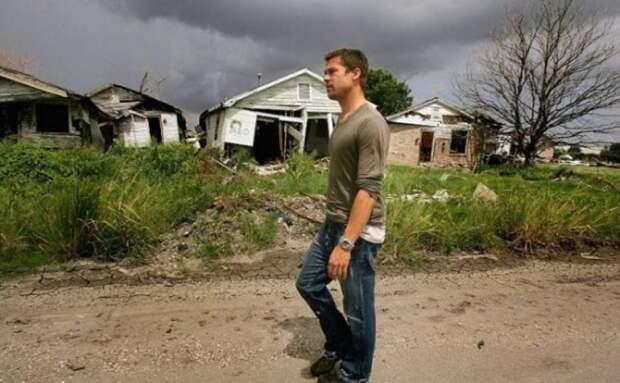 После страшного урагана Брэд Питт организовал строительство целого района